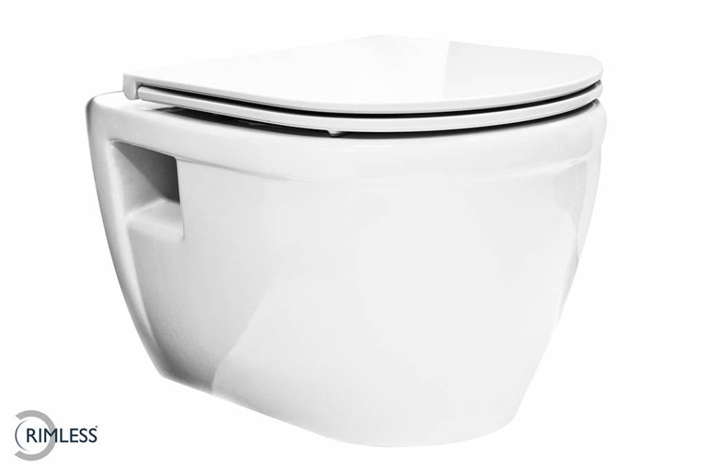 Toilet Met Sproeier : Flush luxe closetzitting met sproeier wit designtoilet