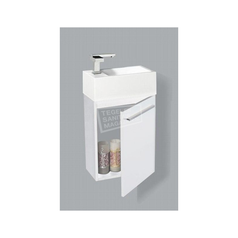 Genoeg Sanilux Basic Fonteinkast 40 cm Hoogglans Wit met 1 deur Softclose EQ58